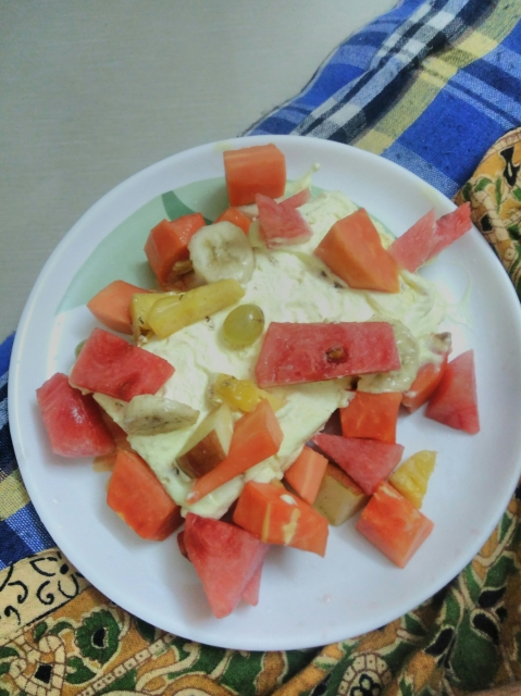 Icecream with mixed fruit by Biswajit Ganguly
